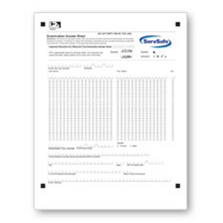ServSafe® Exam Answer Sheets, 10 pack